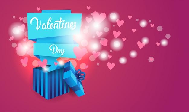 Valentine day gift card-feiertags-liebes-herz-form-fahne mit kopien-raum
