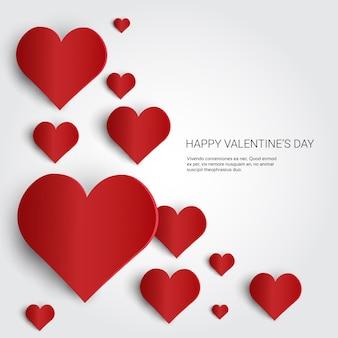 Valentine day gift card-feiertags-liebes-herz-form