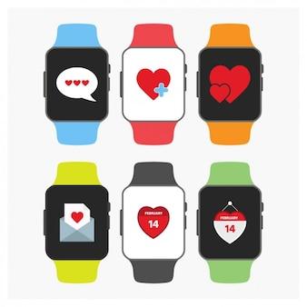 Valentine day smartwatch-sammlung