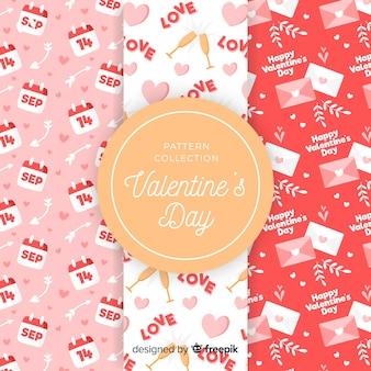 Valentine-elements-muster-sammlung