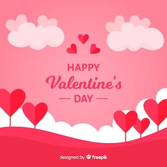 Valentine flachen feld hintergrund