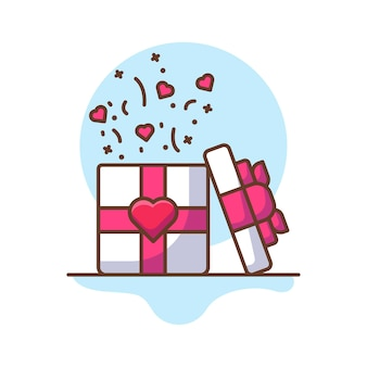 Valentine gift icon illustrationen.