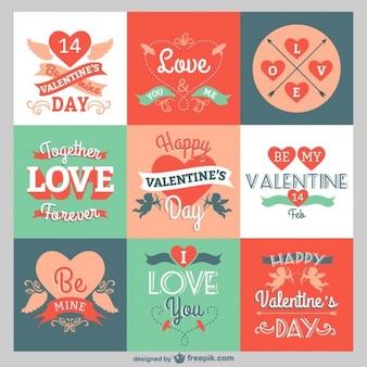 Valentine-gruß-pack