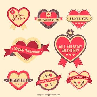 Valentine herzen aufkleber