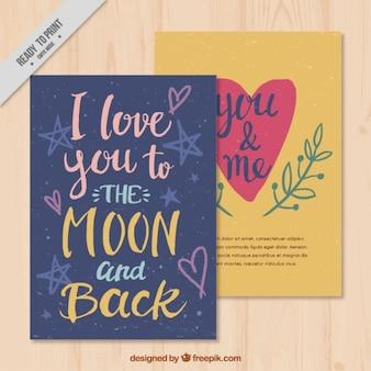 Valentine-karte mit romantischen nachricht