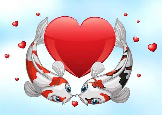 Valentine koi