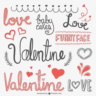 Valentine kritzeleien