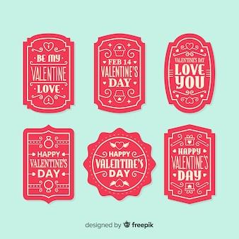 Valentine message label-sammlung