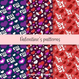 Valentine-muster-sammlung