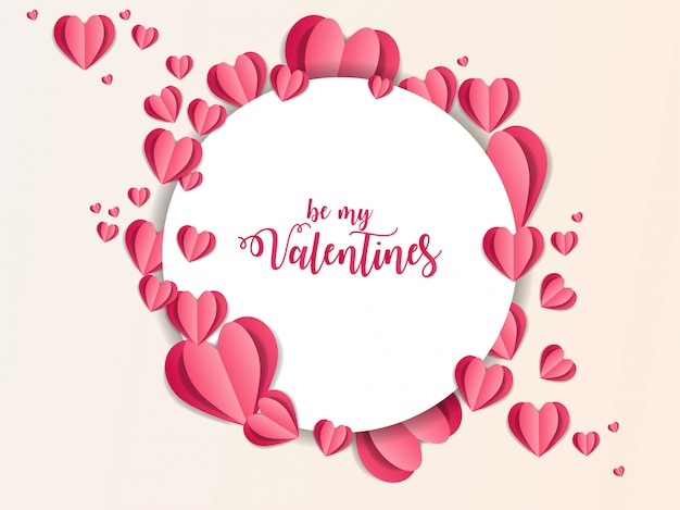 Valentine ornament papier kunst abbildung
