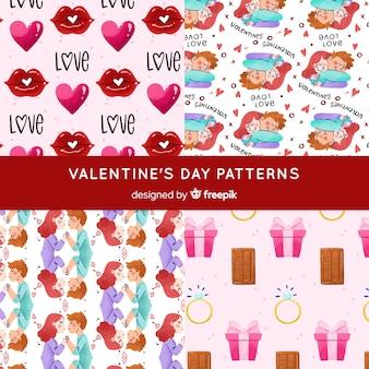 Valentine paar muster kollektion