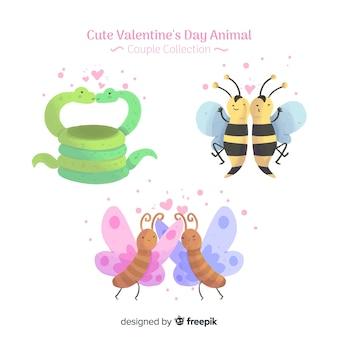 Valentine paare packen