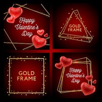 Valentine poster, karte, etikett, banner vektorelemente für valentinstag-design-elemente. typografie liebesherz