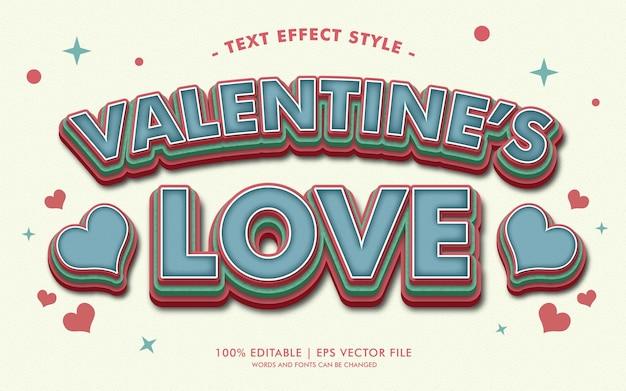 Valentine's love text effekte stil