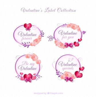 Valentine stikers sammlung