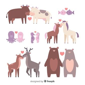 Valentine tierpaarsammlung