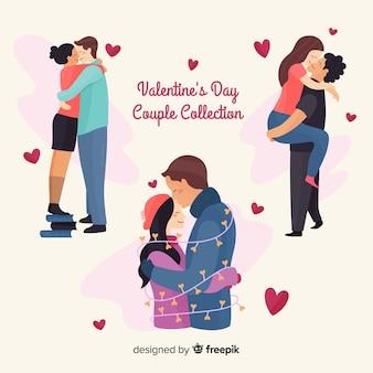 Valentine umarmt paar sammlung