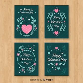 Valentine verzweigt Kartensammlung