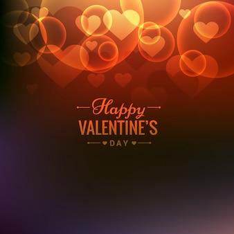 Valentines background in bokeh-stil
