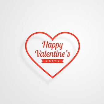 Valentines-karte mit herzen umrissen