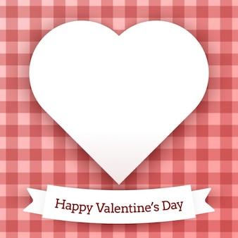Valentines-karte mit karierten hintergrund