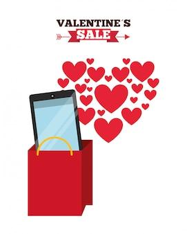 Valentines verkauf design