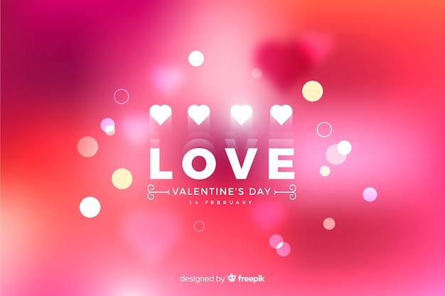 Valentinsgruß unscharfer hintergrund