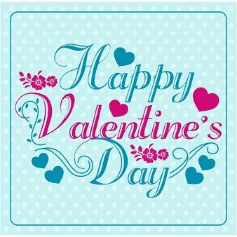 Valentinsgrußgrußkarte in der weinleseart