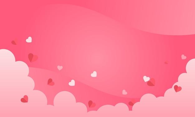 Valentinsgrußhintergrunddesign mit wolke und herz