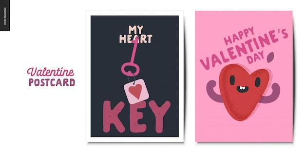 Valentinsgrußpostkarten eingestellt