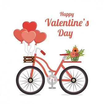 Valentinsgrußtages reizendes kartengrafikdesign