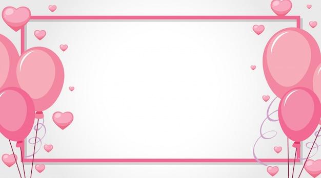 Valentinsgrußthema mit rosa ballonen