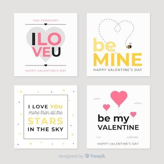 Valentinskarte gesetzt