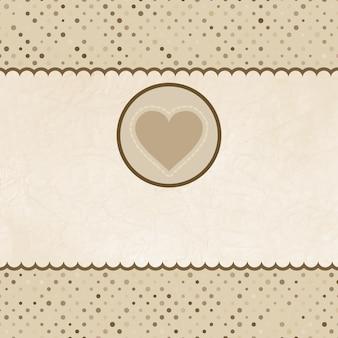 Valentinskarte mit herz. eps 8