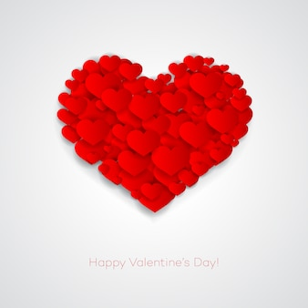 Valentinskarte mit herz
