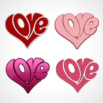 Valentinskarte mit liebesbeschriftung. fröhlichen valentinstag