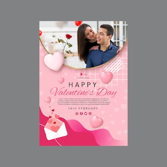 Valentinstag a4 plakatvorlage