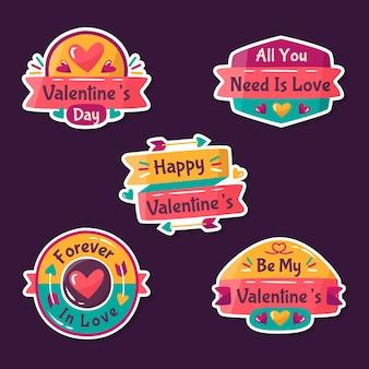 Valentinstag abzeichen sammlung