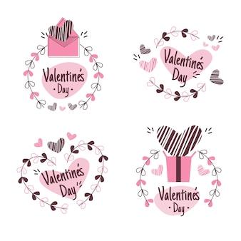 Valentinstag-abzeichensammlung