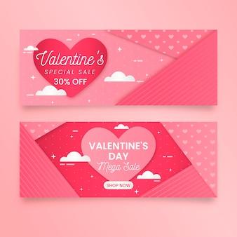 Valentinstag banner gesetzt