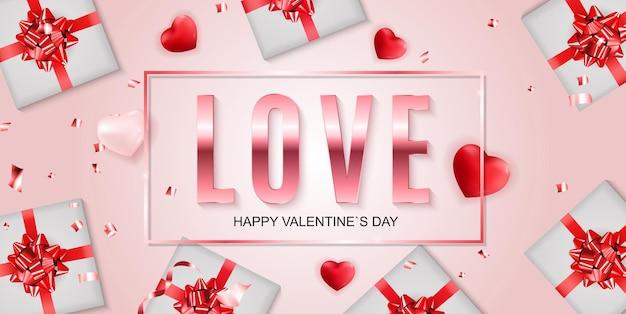 Valentinstag banner hintergrund