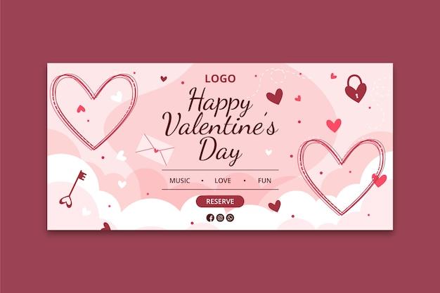 Valentinstag banner konzept