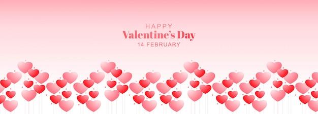 Valentinstag banner mit herzen