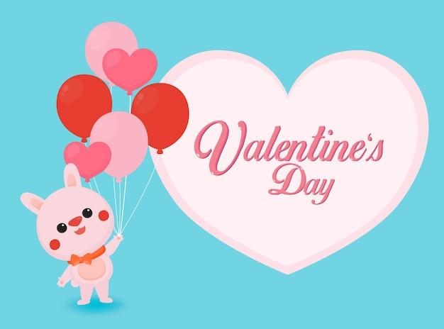 Valentinstag banner mit niedlichen bären auf pastell hintergrund.