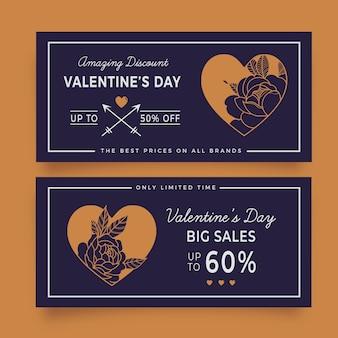 Valentinstag banner mit unglaublichen rabatten