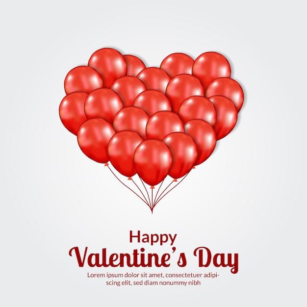 Valentinstag banner vorlage