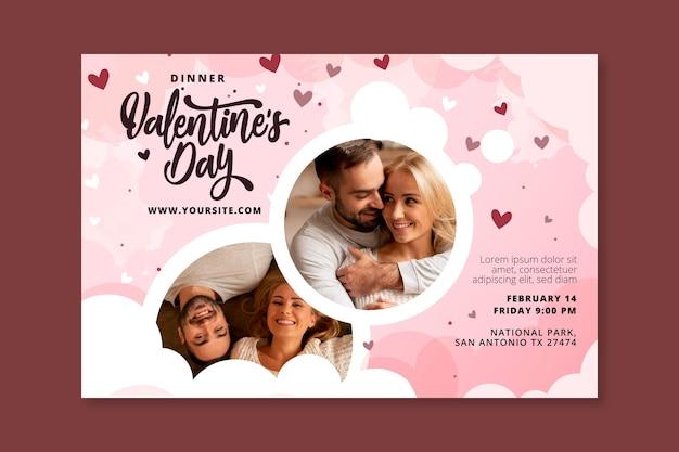 Valentinstag banner vorlage Kostenlosen Vektoren