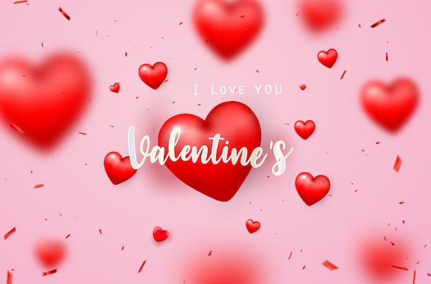 Valentinstag-banner-vorlage.