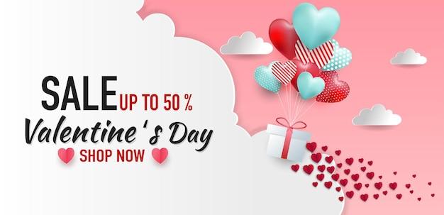 Valentinstag banner.