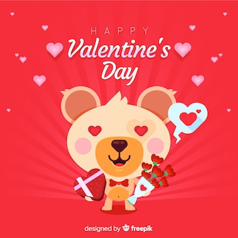 Valentinstag Bär in Liebe Hintergrund